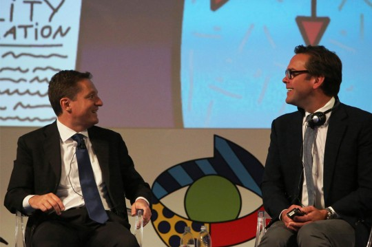Andrea Ceccherini e James Murdoch_